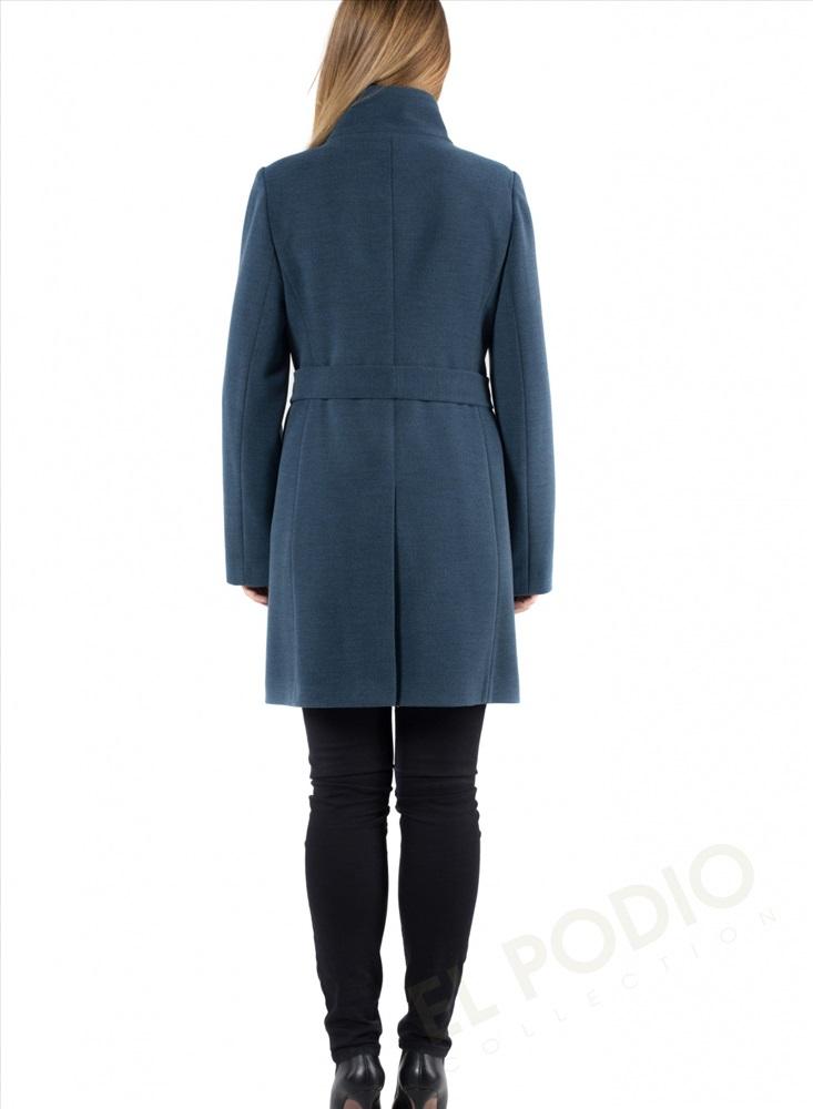 e4cec59a3c4 14-0018-75 Пальто женское демисезонное (пояс) Кашемир Серо-зеленый 7 фото